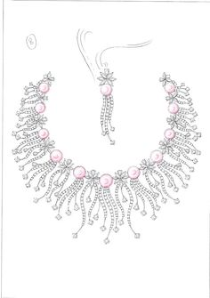 jewelry paintings/designs on Pinterest   Sketch, Jewelry Sketch and Jewellery