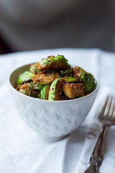 SESAME COCONUT BRUSSELS SPROUTS (GLUTEN FREE)