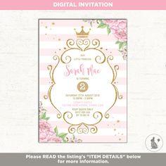 Invitación del cumpleaños de la princesa. Invitan a fiesta de