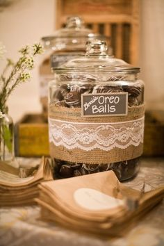 A cookie bar instead of a candy bar. To make this a bit personal is to feature a favorite recipe from a loved one (ex: mother of the groom & bride; grandmother recipe, etc) decor can reflect that special recipe being offered to your guests