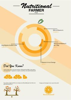 Orange nutritional labelling inforgraphic