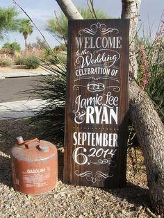 Distressed Barnwood Wedding Chalkboard by ChalkTreatment on Etsy, $325.00