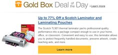 AMAZON $$ Gold Box Deal of the Day: Save Up to 77% off Scotch Laminator & Laminating Pouches – TODAY Only (8/19)!