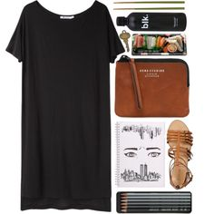 Daisy by vv0lf on Polyvore featuring T By Alexander Wang, J.Crew, Acne Studios, Caran D'Ache, Crate and Barrel and Jura