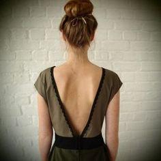 patron couture robe dos nu