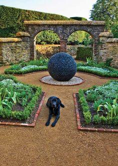 Dark Planet in courtyard garden