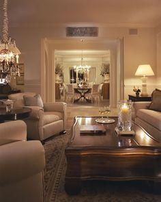 Traditional Living Room - Trieste | Simonsen-Hickok Interiors, Naples, Florida