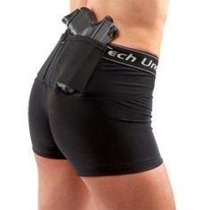 With these shorts you can carry concealed in just about anything, including sweat pants, shorts, skirts, you name it. You don't need a belt because the holster is built into the compression fit shorts. These are a must have for anyone carrying concealed.