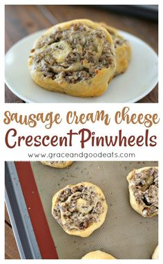 These three ingredient Sausage Cream Cheese Pinwheels are so easy and so delicious. This savory, cheesy, tangy recipe is so versatile and is perfect as an appetizer, party food, or brunch dish. Sausage Pinwheels, Cream Cheese Pinwheels, Tortilla Pinwheels, Pinwheel Appetizers, Pinwheel Recipes, Appetizers With Puff Pastry, Cream Cheese Crescent Rolls, Crescent Roll Recipes, Sausage Crescent Rolls