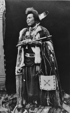 Nez Perce man, Date: circa 1900