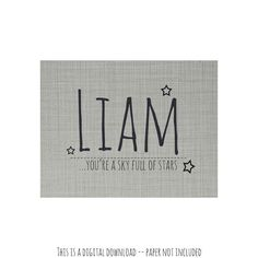 Liam personalized digital download wall by LoveYouMoreBoutique, $10.00
