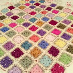 Squares with flat braid join | von angelala242