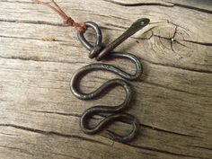 Detailed Norse Iron Serpent Amulet Norse Viking Pagan by NorseWest
