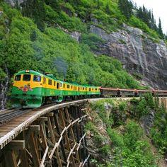 le White Pass et Yukon Route, le mythique train des chercheurs d'or en Alaska