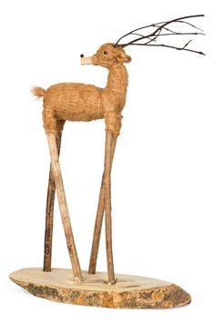 Tall Coir Reindeer // Holiday Winter Decoration // Christmas Decor // Deer // Farmhouse // Rustic Home