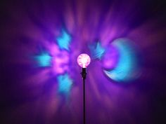 The ORIGINAL HandPainted Purple Moon & Stars by MoodLights on Etsy, $30.00