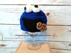 Cookie monster hat. Cookie monster beanie. Crochet Cookie monster hat. Crochet Cookie monster beanie. Handmade Cookie monster hat. by TracyplusCrochet on Etsy