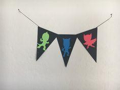 PJ Mask silhouette banner