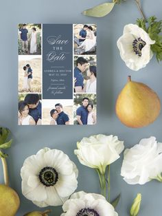 Buttoned Up Frame Photo Wedding Save the Date Cards Luxury Wedding Invitations, Elegant Invitations, Wedding Stationary, Invites, Save The Date Magnets, Save The Date Cards, Engagement Ideas, Wedding Engagement, Wedding Trends