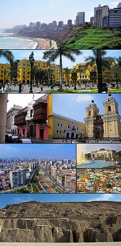 Lima collage01.jpg:  Lima is the capital and the largest city of Peru.
