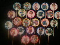 24 Super Why Cupcake Toppers Birthday Party by ryv999 on Etsy, $4.99