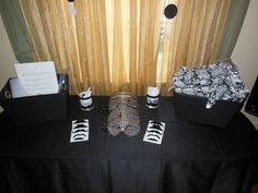 Black & White Party.  Games/prizes table for my daughter's 13th Birthday
