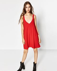 ZARA - WOMAN - DOUBLE STRAP WRAP DRESS
