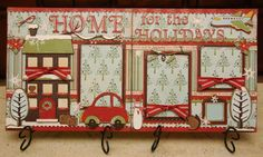 Fantabulous Cricut Challenge Blog: Scrappin' Saturday - Home for the Holidays Layout