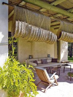 Pergola With Glass Roof Outdoor Retreat, Outdoor Rooms, Outdoor Gardens, Outdoor Living, Outdoor Decor, Porch And Terrace, Outdoor Blinds, Patio Interior, Interior Design