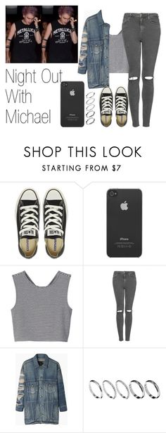 """""""Night Out With Michael"""" by the4dipshits ❤ liked on Polyvore featuring Converse, Incase, Monki, Topshop, R13 and ASOS"""