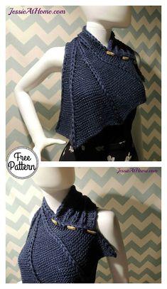 Dragon Wing Cowl Free Knitting Pattern