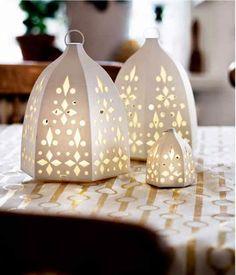 Poppytalk: Sneak Peek | IKEA's Holiday Collection STRÅLA LED lantern, snowflake $6.99/3 pack