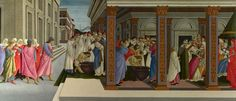 Sandro Botticelli - Four Scenes from the Early Life of Saint Zenobius - The National Gallery London