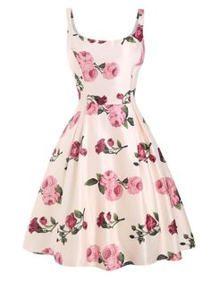 Pink Rose Floral Swing Dress - vintage dresses,vintage dresses dresses dresses casual dresses Source by annalenacv - Elegant Dresses, Pretty Dresses, Sexy Dresses, Beautiful Dresses, Casual Dresses, Dresses For Work, Formal Dresses, Wedding Dresses, Modest Dresses