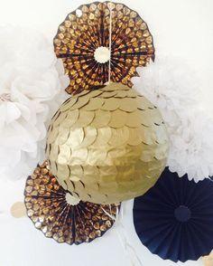 Antique Gold Wedding Piñata Gold Gender Reveal by PomJoyFun Card Box Wedding, Wedding Paper, Gold Wedding, Gender Reveal Pinata, Confetti Gender Reveal, Birthday Pinata, Gold Birthday, Baby Shower, Bridal Shower