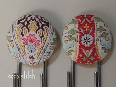 Bookmark Japanese fabric by coco stitch, via Flickr
