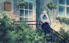 Download wallpapers Vocaloid, Hatsune Miku, female anime characters, Japanese virtual singer