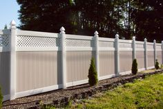 We provide vinyl fence design, installation & service for those homeowners who are too busy or just don't want to spend time working on a fence. Serving to the communities of Portland Oregon (OR) & Vancouver Washington (WA) area. Outdoor Landscaping, Outdoor Gardens, Fence Panels For Sale, Patio, Backyard, Fence With Lattice Top, Compound Wall Design, Garden Landscape Design, Outdoor Living