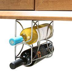 Rev-A-Shelf Wine Bottle Chrome or Bronze Under Cabinet Organizer for sale online Wine Bottle Rack, Wine Bottle Crafts, Bottle Holders, Wine Racks, Wine Rack Cabinet, Room Store, Bar Displays, Under Cabinet, Wine Cabinets