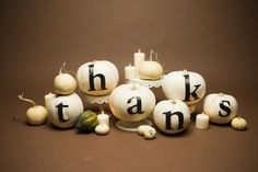 cute thanksgiving table decoration idea - might have to do this, this year;)