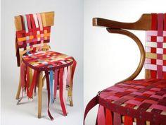 Le sedie fai-da-te vintage con cinture