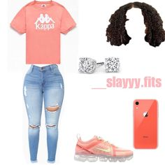 Swag Outfits For Girls, Teenage Girl Outfits, Cute Swag Outfits, Cute Comfy Outfits, Crop Top Outfits, Teenager Outfits, Dope Outfits, Cute Summer Outfits, Winter Fashion Outfits