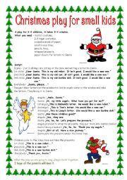 English worksheet: Christmas play for small kids