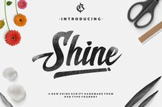 New Shine Script is a font designed by Rvq Typefoundry, that contains and elegantly designed character set....