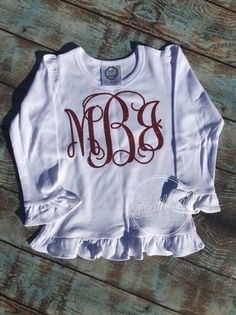Monogram Shirt  Initial Shirt  Name Shirt  by MySouthernCreations1