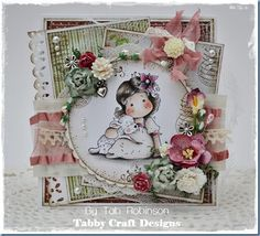 Tilda with cute lamb, Little Christmas Collection 2012, Magnolia stamps