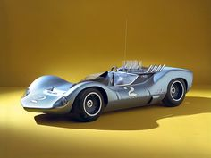 1963 Corvette GS-II. Designed by Larry Shinoda. Aluminum 327cu.in. V8 (4.00in. x 3.25in.). 1450lbs. Transmission was a 1-speed automatic also later used in the Chaparral 2C. The GS-II reached 198mph in testing.