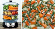 Guarnición Verduras al vapor en Vaporera electrica. Recetas para vaporera. | Videococina.eu Celery, Green Beans, Food, Youtube, Steamer Recipes, Healthy Recipes, Food Items, Vegetable Side Dishes, Eten