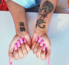 Hot Pink Nails and Tats Dope Tattoos, Pretty Tattoos, Body Art Tattoos, Small Tattoos, Girl Tattoos, Tattoos For Women, Tatoos, Tattoo Girls, Tattoo Blog