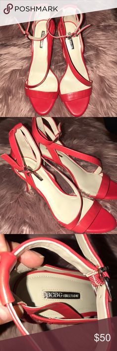 BCBG heels Red BCBGeneration pumps. These are gorgeous. The can be paired with a pair of jeans pr dressed up for a night on the town. Would be great for NYE. Make an offer! BCBGeneration Shoes Heels